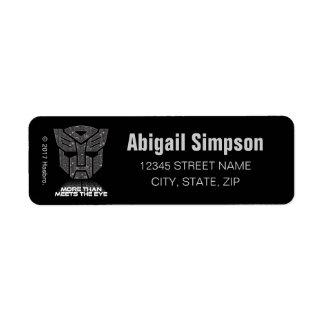 Transformers | More than Meets the Eye Return Address Label