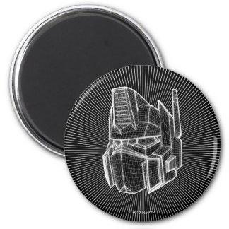Transformers | Optimus Prime 3D Model 2 Inch Round Magnet