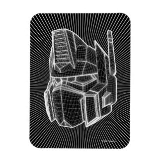 Transformers | Optimus Prime 3D Model Rectangular Photo Magnet