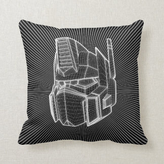 Transformers | Optimus Prime 3D Model Throw Pillow