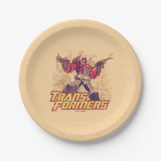 Transformers | Optimus Prime - Comic Book Sketch Paper Plate