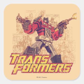 Transformers | Optimus Prime - Comic Book Sketch Square Sticker