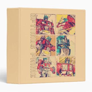 Transformers   Optimus Prime Comic Strip 3 Ring Binder