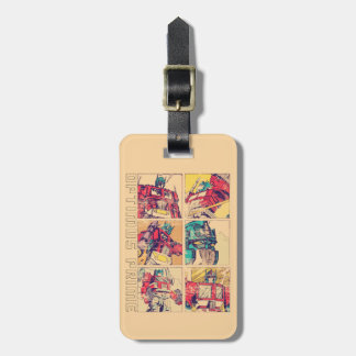 Transformers | Optimus Prime Comic Strip Luggage Tag