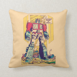 Transformers | Optimus Prime is Back Throw Pillow