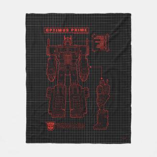 Transformers | Optimus Prime Schematic Fleece Blanket
