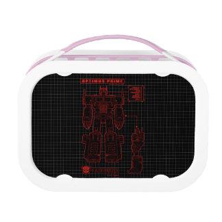 Transformers | Optimus Prime Schematic Lunch Box