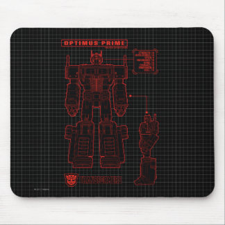 Transformers | Optimus Prime Schematic Mouse Pad