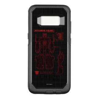Transformers | Optimus Prime Schematic OtterBox Commuter Samsung Galaxy S8 Case