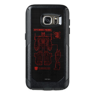 Transformers   Optimus Prime Schematic OtterBox Samsung Galaxy S7 Case