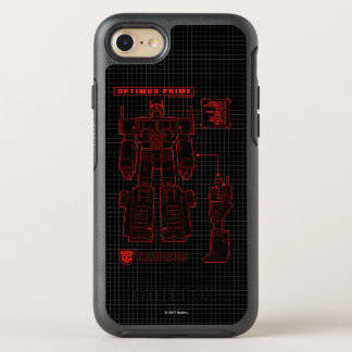 Transformers | Optimus Prime Schematic OtterBox Symmetry iPhone 8/7 Case
