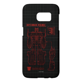 Transformers   Optimus Prime Schematic Samsung Galaxy S7 Case