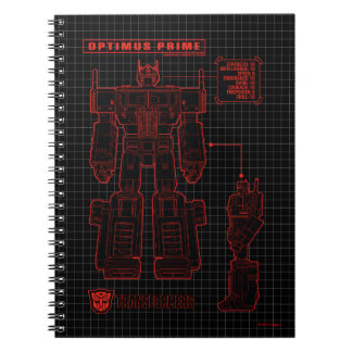 Transformers | Optimus Prime Schematic Spiral Notebook