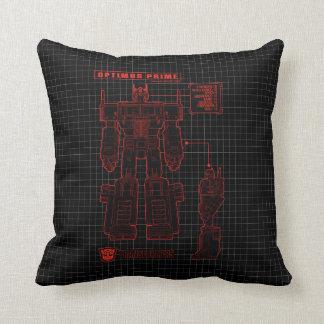 Transformers | Optimus Prime Schematic Throw Pillow