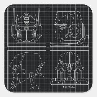 Transformers | Vintage Autobots Square Sticker