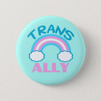 Transgender Ally Teal 2 Inch Round Button