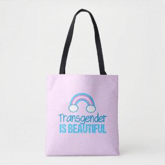 Transgender Beautiful Rainbow Tote Bag