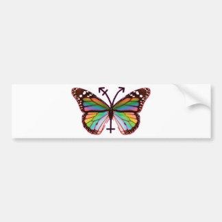 transgender butterfly bumper sticker