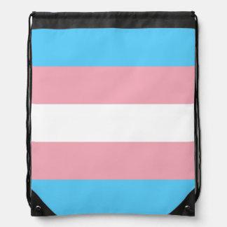 Transgender flag Drawstring Backpack