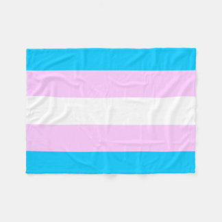 Transgender flag fleece blanket