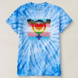 Transgender Flag Trans Pride Symbol Destroyed Look T-shirt