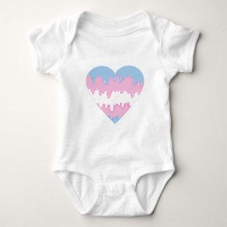 transgender heart baby bodysuit