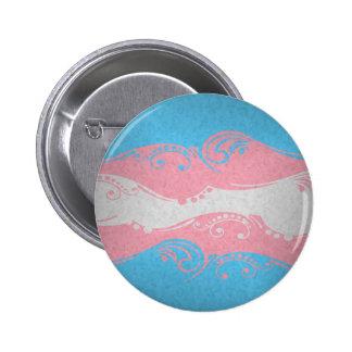 Transgender Ornamental Flag 2 Inch Round Button
