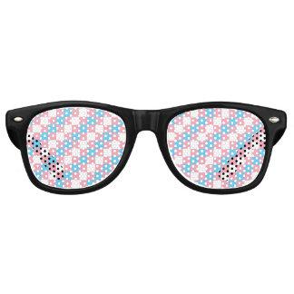 Transgender Pixel Squares LGBT Pride Retro Sunglasses
