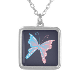 Transgender Pride Butterfly Necklace