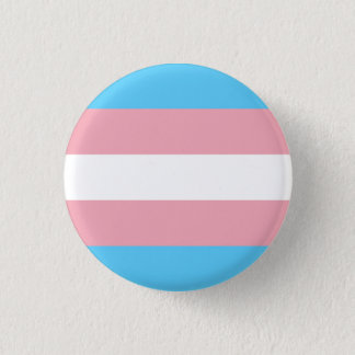 Transgender pride flag 1 inch round button