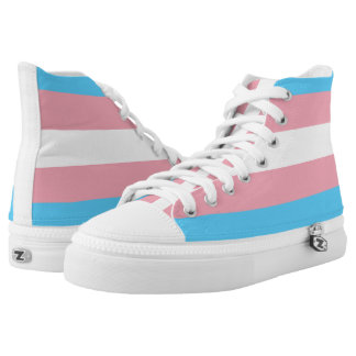 Transgender Pride Flag High Top Zipz Sneakers