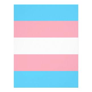 Transgender Pride Flag - LGBT Trans Rainbow Letterhead