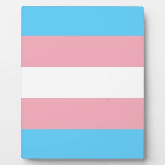 Transgender Pride Flag - LGBT Trans Rainbow Plaque