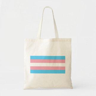 Transgender Pride Flag - LGBT Trans Rainbow Tote Bag
