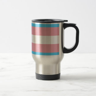 Transgender Pride Flag - LGBT Trans Rainbow Travel Mug