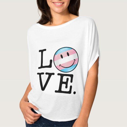 Transgender Pride Flag Love T-Shirt