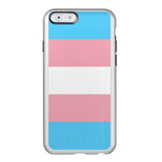 Transgender Pride Flag Silver iPhone Case