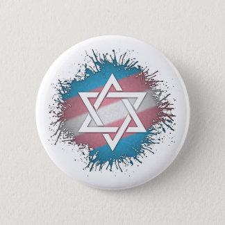 Transgender Pride Star of David 2 Inch Round Button