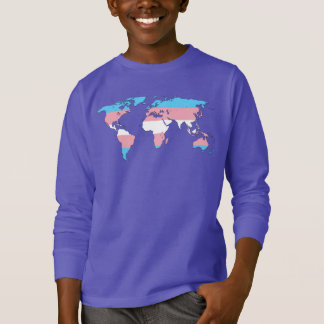 Transgender pride world map Sweatshirt