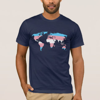 Transgender pride world map T-Shirt