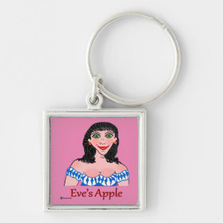 Transgender Woman Silver-Colored Square Keychain