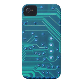 TRANSHUMANISM: Abstract BLUE circuit pattern. iPhone 4 Case