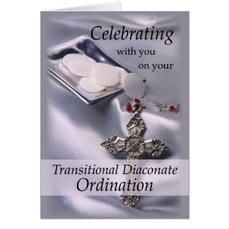 Transitional Diaconate Ordination Congratulations Card