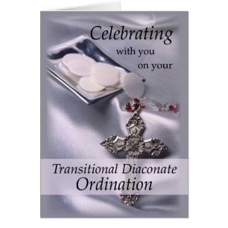Transitional Diaconate Ordination Congratulations Greeting Card