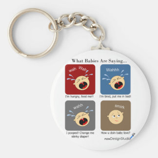 Translating Baby Expressions Basic Round Button Keychain