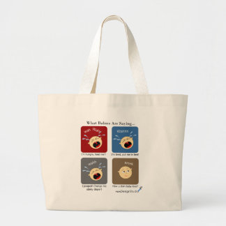Translating Baby Expressions Large Tote Bag