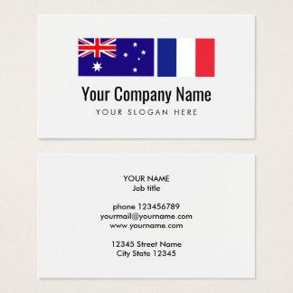 Translation Australian English French translator Business Card