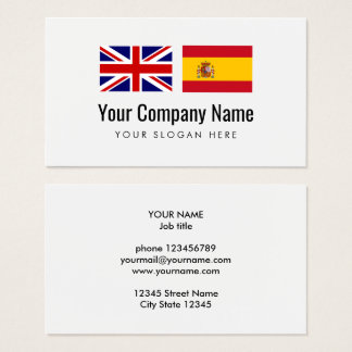 Translation services Engish Spanish translator Business Card