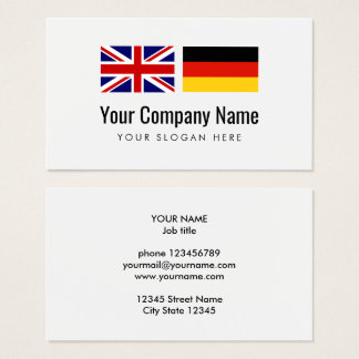 Translation services German English translator Business Card
