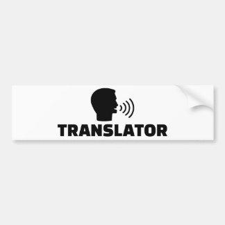 Translator Bumper Sticker